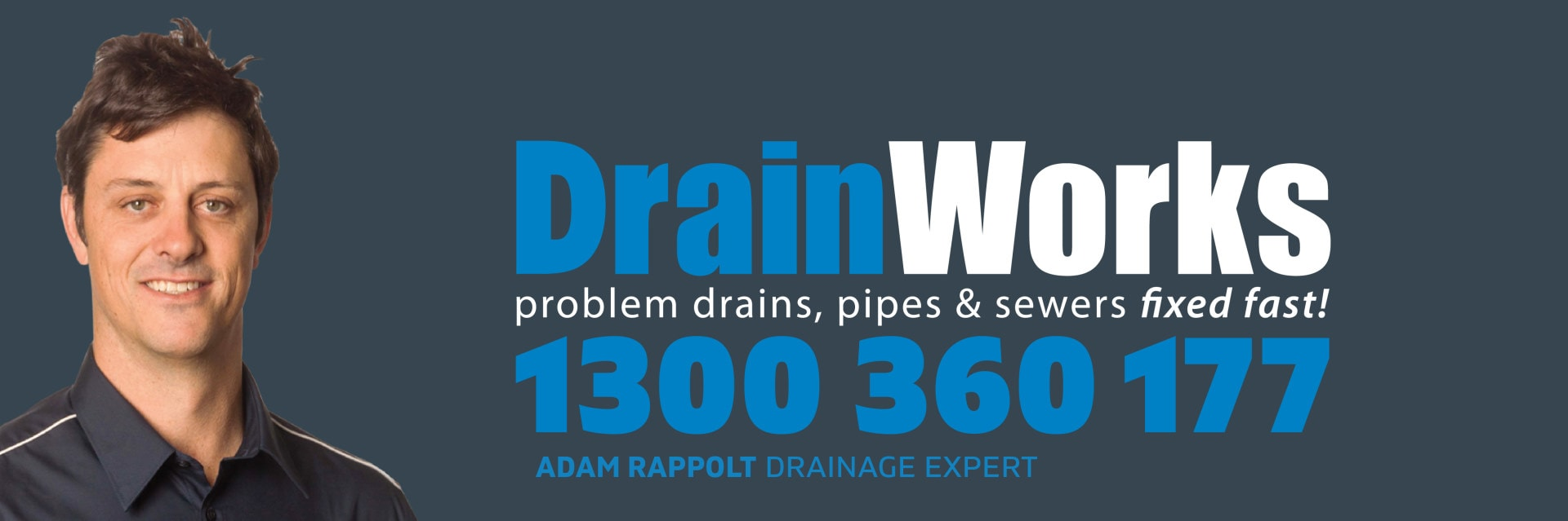 DrainWorks Desktop Header - Charcoal